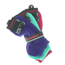 6 Pairs Women's Ladies Solid Color No Show Bright Ankle Socks Size 9-11
