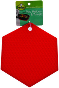 Set of 4 Silicone Pot Holder & Trivets Heat Resistant Kitchen Tool
