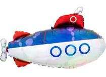"XL 34"" Iridescent Submarine Mylar Foil Balloon Party Decoration"