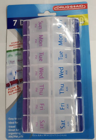 7 Day AM PM Pill Organizer Planner Two Times A Day