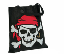 Lot of 12 Large Pirate Tote Bag Shopping Crafts Favors