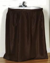 Better Home Brown Fabric Sink Skirt Water Repellent Standard Size