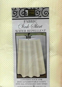 Better Home Ivory Fabric Sink Skirt Water Repellent Standard Size