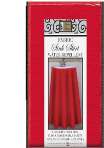 Better Home Red Fabric Sink Skirt Water Repellent Standard Size