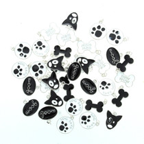Lot of 36 Enamel Metal Dog Charms Paw Bone Pendant Assorted Styles