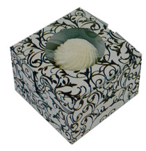 6 Black and White Single Cupcake Boxes Carrier with Window Pastry Containers