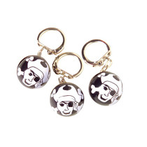 Lot of 12 Pirate With Crossbones Keychains Party Favors