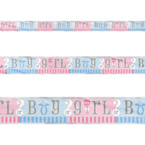 Gender Reveal Girl or Boy? 12 Ft. Banner Party Supplies