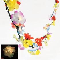 9 Ft Lighted Tropical Flower Lei Garland Hawaiian Luau Wedding Decor 50 Lights