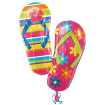 """XL 33"""" Flip Flops Super Shape Mylar Foil Balloon Tropical Luau Party Decoration"""