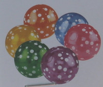 Lot of 12 Polka Dot Inflatable Beach Balls Pool Party