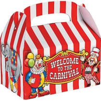 Circus Carnival Big Top Party Favor Gift Boxes - 12 Pack