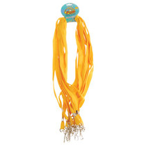 Yellow Keychain Lanyards School Colors Party Favors Lot of 12