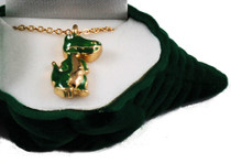 Alligator Crystal Necklace With Velour Hinged Gift Box