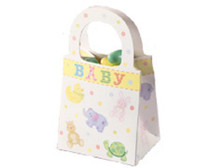 12 Ct Wilton Baby Shower Favor Tote Treat Bags 1003-1055