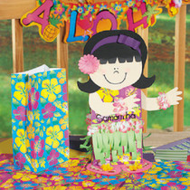 Lot of 24 Hibsicus Paper Bags Luau Hawaiian Party Loot