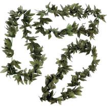 Tropical Green Fern Leaf Leis - 12 Pack