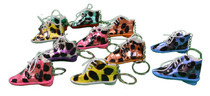 12 Animal Print Sneaker Key Chains Party Favors