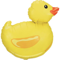 "29"" Betallic Large Shape Yellow Rubber Ducky Balloon"