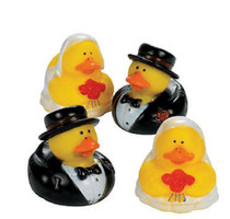 Lot of 12 Vinyl Wedding Party Rubber Ducks Bride Groom Favors