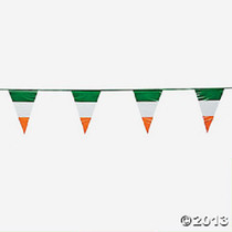 100Ft Plastic Irish Flag Pennant Banner