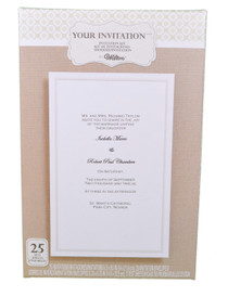 Set of 25 Wilton Wedding Simplistic White Basic Invitation Kit 1010-262