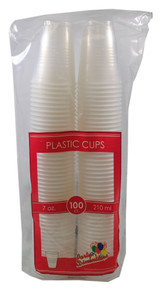 Lot of 100 Clear Translucent Plastic Party Cups 7oz