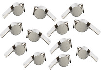 Metal Sport Whistle Key Chains - 12 Count