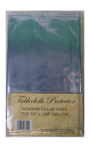 Vinyl Tablecloth Protector Wipes Clean Protect Linens Choose Size