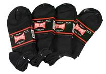 Lot of 12 Pairs Womens Tuff Stuff Black No Show Sport Socks 9-11