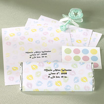 Set of 18 Wilton Baby Announcement Candy Wrappers Footprint Design Favors