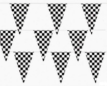 500 Ft Checkered Flag Banner Pennant Car Racing Party (5 packs)