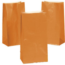 Lot of 24 Orange Paper Treat Bags Halloween Party Candy