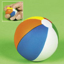 Lot of 12 Foam Relaxable  Stress Relief Squeezable Beach Balls Party Favors
