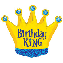 Birthday King Crown Balloon 36""