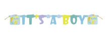 It's A Boy Baby Shower Banner Party Decoration Blue Jointed