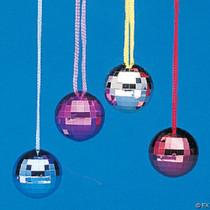 Mirror Ball Disco Necklaces - 12 Count