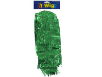 Green Pom Pom Tinsel Wig Team Spirit Cheer Party Costume