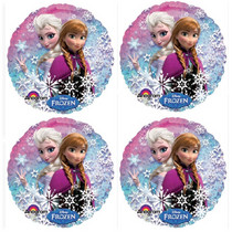 "Frozen Anna and Elsa Balloon Mylar Disney Party Decoration 18"" Lot of 4"