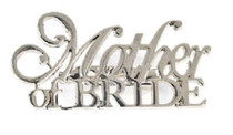 Mother Of The Bride Silver Pin Wedding Bridal Party Gift Decoration