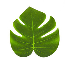 Green Polyester Tropical Leaves - 12 Pack