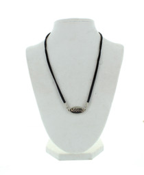 Silver Mom Necklace With Black Band Mother Simply Beautiful