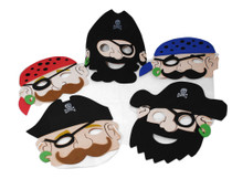 Lot of 12 Foam Pirate Party Masks Costume Dress Up Party Favors