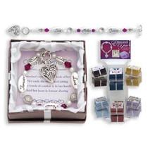 Mother Silver Charm Bracelet Gift Mom Love Forever