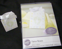 24 Wilton Brand Baby Shower Favor Boxes with Ribbons