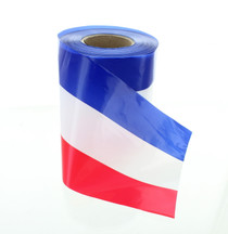 """Patriotic USA Plastic Ribbon Red White Blue 300 Ft Long 3"""" Wide"""
