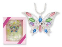 Multi Color Fashion Butterfly Pendant Gift Boxed