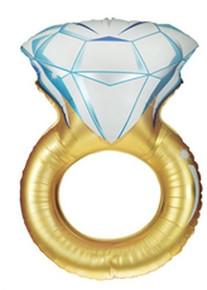 "XL 37""  Diamond Wedding Ring Super Shape Mylar Foil Balloon"