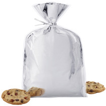 Lot of 24 Wilton Insulated Foil Silver Treat Bags Wedding Shower Favors