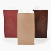 Lot of 24 Fall Autumn Colors Paper Gift Wedding Bags